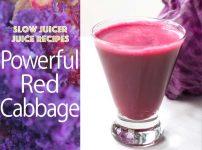 スロージューサー・レシピ:赤キャベツのジュース